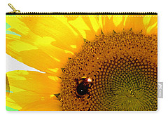 Carry-all Pouch featuring the digital art Sunflower by Daniel Janda