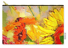 Sunflower Detail Carry-all Pouch by Ana Maria Edulescu