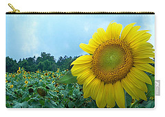 Sunflower Field Of Yellow Sunflowers By Jan Marvin Studios  Carry-all Pouch