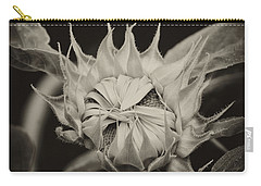 Carry-all Pouch featuring the photograph Sunflower Grand Opening by Wilma  Birdwell