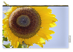 Sunflower In The Blue Sky Carry-all Pouch by David Millenheft
