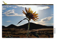 Carry-all Pouch featuring the photograph Sunflower In The Sun by Matt Harang