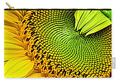 Sunflower Kaleidescope Carry-all Pouch