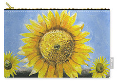 Carry-all Pouch featuring the painting Sunflower Series One by Thomas J Herring