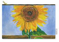 Carry-all Pouch featuring the painting Sunflower Series Two by Thomas J Herring