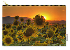 Sunflower Sun Rays Carry-all Pouch