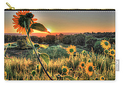 Sunflower Sunrise 1 Carry-all Pouch by Diane Alexander