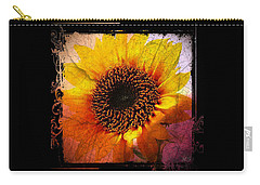 Carry-all Pouch featuring the digital art Sunflower Sunset - Art Nouveau  by Absinthe Art By Michelle LeAnn Scott