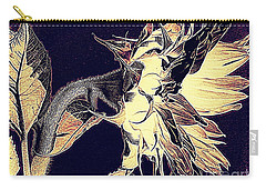 Carry-all Pouch featuring the photograph Sunflower - Tribal Harvest by Janine Riley