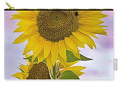 Sunflower With Colorful Evening Sky Carry-all Pouch