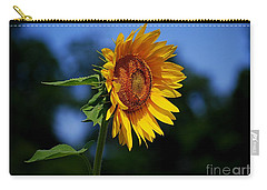 Sunflower With Honeybee Carry-all Pouch