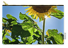 Sunflower With Sun Carry-all Pouch