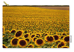Carry-all Pouch featuring the photograph Sunflowers And Airports by Ronda Kimbrow