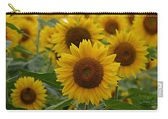 Sunflowers At The Farm Carry-all Pouch by Denyse Duhaime