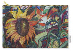 Sunflowers Carry-all Pouch by Avonelle Kelsey