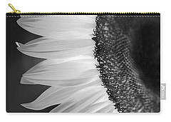 Sunflowers Beauty Black And White Carry-all Pouch
