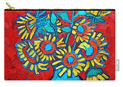 Sunflowers Bouquet Carry-all Pouch
