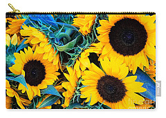 Sunflowers Carry-all Pouch by Colleen Kammerer