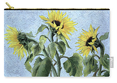 Sunflowers Carry-all Pouch by Cristiana Angelini
