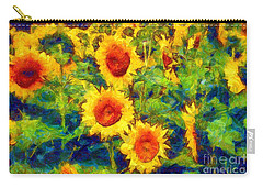 Sunflowers Dance In A Field Carry-all Pouch