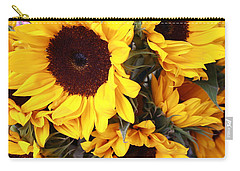Carry-all Pouch featuring the photograph Sunflowers by Dora Sofia Caputo Photographic Art and Design