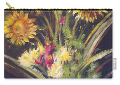 Sunflowers For Sunday Carry-all Pouch by Mary Hubley