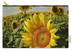 Kansas Sunflowers Carry-all Pouch by Chris Berry