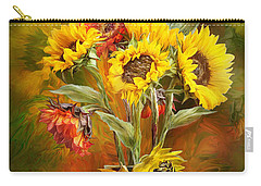 Sunflowers In Sunflower Vase Carry-all Pouch