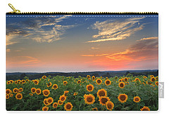 Sunflowers In The Evening Carry-all Pouch