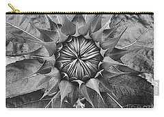 Sunflower's Shades Of Grey Carry-all Pouch by Elizabeth Dow