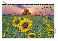 Sunflowers Sunset Carry-all Pouch