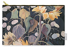 Carry-all Pouch featuring the painting Sunflowers' Symphony by Marina Gnetetsky