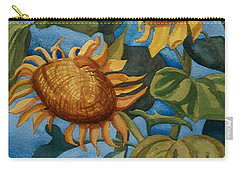 Sunflowers Watercolor Carry-all Pouch