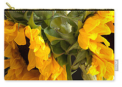 Carry-all Pouch featuring the photograph Sunflowers With Foliage by Mary Bedy