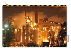 Sunila Pulp Mill By Winter Night Carry-all Pouch