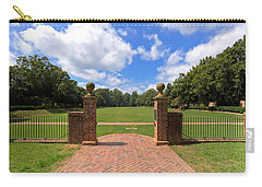 Carry-all Pouch featuring the photograph Sunken Garden At William And Mary by Jerry Gammon