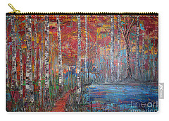 Sunlit Birch Pathway Carry-all Pouch