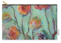 Carry-all Pouch featuring the painting Sunlit Garden by Mary Wolf