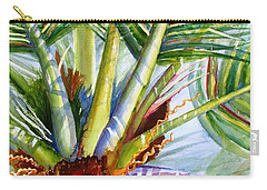 Sunlit Palm Fronds Carry-all Pouch by Carlin Blahnik