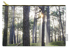 Sunlit Trees Carry-all Pouch by Spikey Mouse Photography