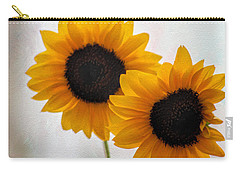 Sunny Flower On A Rainy Day Carry-all Pouch by Tammy Espino