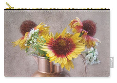 Sunny Treasure Flowers In A Copper Jug Carry-all Pouch