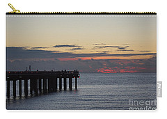 Carry-all Pouch featuring the photograph Sunny Isles Fishing Pier Sunrise by Rafael Salazar