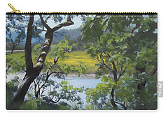 Sunny River Carry-all Pouch by Karen Ilari