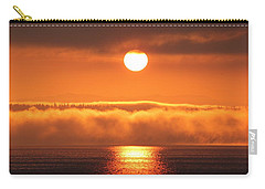 Carry-all Pouch featuring the photograph Sunrise And Fog by E Faithe Lester