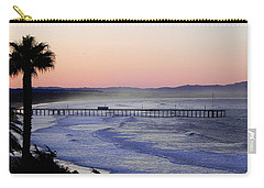 Carry-all Pouch featuring the photograph Sunrise At Pismo Beach by Kathy Churchman