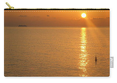 Carry-all Pouch featuring the photograph Sunrise At Sea by Photographic Arts And Design Studio