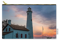 Carry-all Pouch featuring the photograph Sunrise At Sturgeon Point by Patrick Shupert