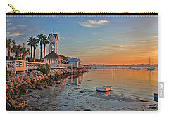 Sunrise At The Pier Carry-all Pouch by HH Photography of Florida