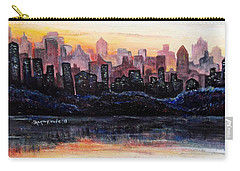 Carry-all Pouch featuring the painting Sunrise City by Shana Rowe Jackson